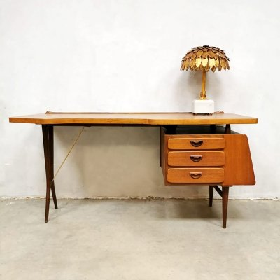 Midcentury Dutch design desk by Louis van Teeffelen for Webe