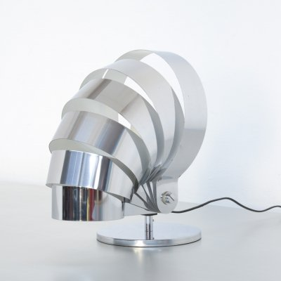 Visor Chrome Table Lamp by E.R. Nele for Temde