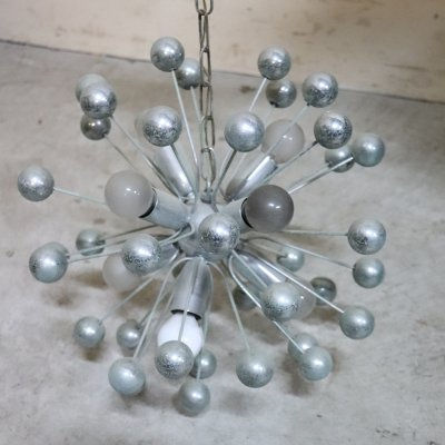 Sputnik Chromed Chandelier, 1980s