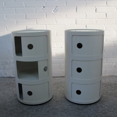 Pair of Componibili boxes by Anna Castelli Ferrieri for Kartell, Italy 1980s