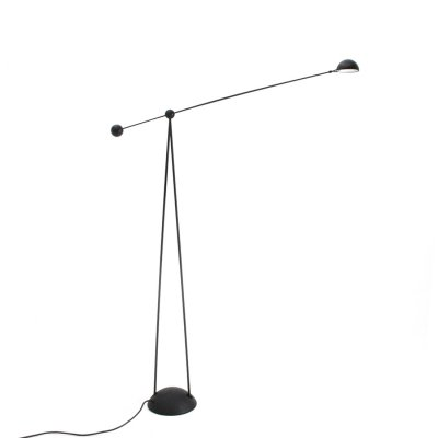 Black 'Yuki' floor lamp by Paolo Francesco Piva for Stefano Cevoli, 1980s