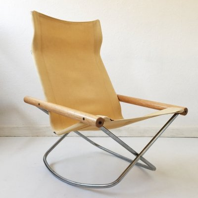 Pair of Mid Century Canvas NY Chairs by Takeshi Nii for Jox Interni, c.1960