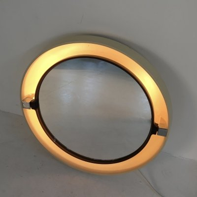 Tilting Backlit Mirror by Allibert, France c.1970
