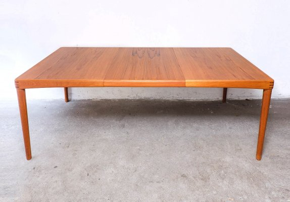 Teak Dining Table with extension by H.W. Klein for Bramin, 1960s