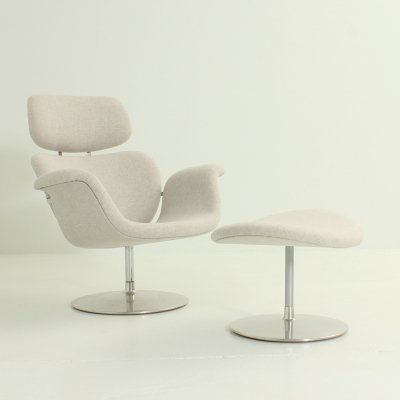 Big Tulip Chair & Ottoman by Pierre Paulin for Artifort