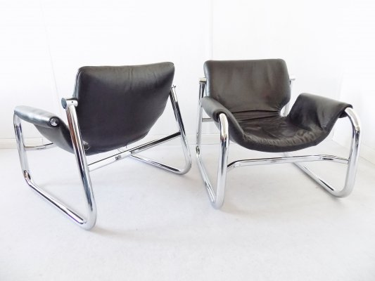 Alpha Sling Chairs by Maurice Burke for Pozza, 1970s