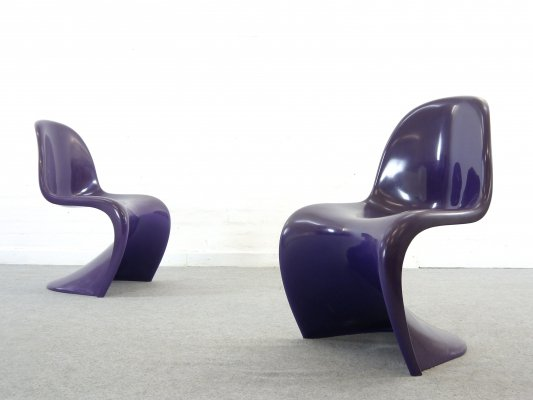 Pair of Panton Chairs by Verner Panton for Herman Miller/Fehlbaum, 1971/1973