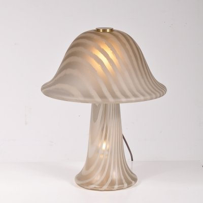 Glass table lamp by Putzler, Germany 1970s