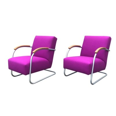 Pair of FN21 cantilever chairs by Mucke Melder for Thonet, 1930s