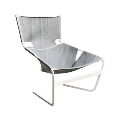 F444 Steel & Canvas Armchair by Pierre Paulin for Artifort, 1980s