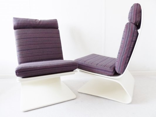 Pair of COR Lounge chairs by Peter Ghyczy
