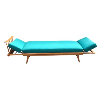 Extendable beech daybed by Wilhelm Knoll for Knoll Antimott, 1950s