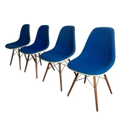 Set of 4 DSW Chairs by Charles & Ray Eames for Herman Miller, 1990s