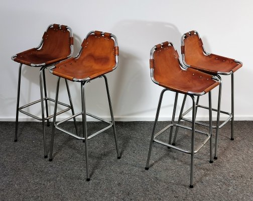 Set of 4 'Les Arcs' Bar Stools selected by Charlotte Perriand, 1960s