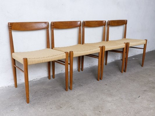Set of 4 Teak Dining Chairs by H.W. Klein for Bramin, 1960s