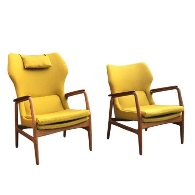 Pair of Karen easy chairs by Aksel Bender Madsen for Bovenkamp, 1950s