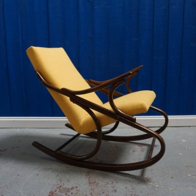 Yellow Ton / Thonet Rocking Armchair, 1960's