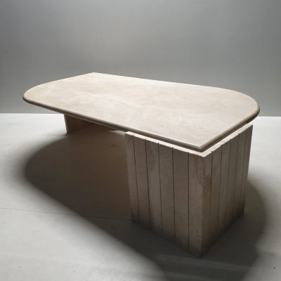 Vintage Italian travertine coffee table, 1980s