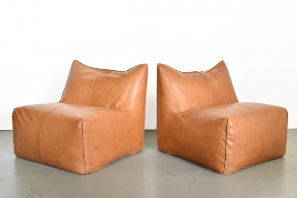Pair of Le Bambole lounge chairs by Mario Bellini for B & B Italia, 1970s