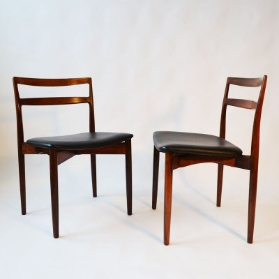 Set of 6 Midcentury Danish dining chairs by Harry Østergaard for Randers Møbelfabrik, 1950s