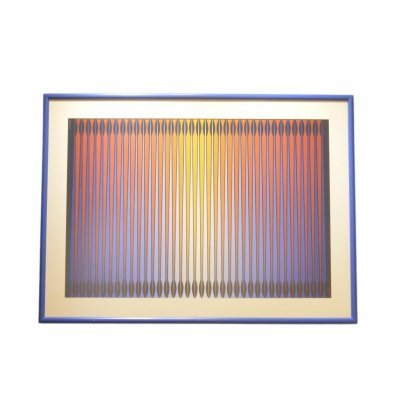 Framed Op Art Painting by Dordevic Miodrag