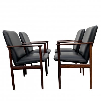 Rosewood Conference Chairs by Cor Bontenbal for Fristho, 1960s