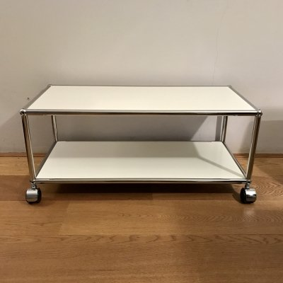 USM Haller TV Table with castors for hard floors