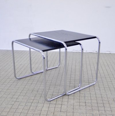Pair of B9 series side tables by Marcel Breuer for Thonet, 1970s
