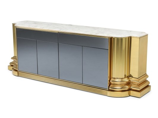 Brass And Marble Credenza by Sandro Petti for Maison Jansen, 1970s