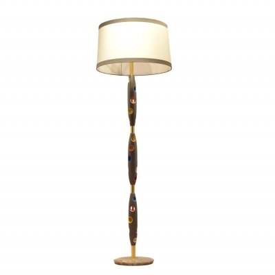 Multicolor Lacquered Wood Floor Lamp