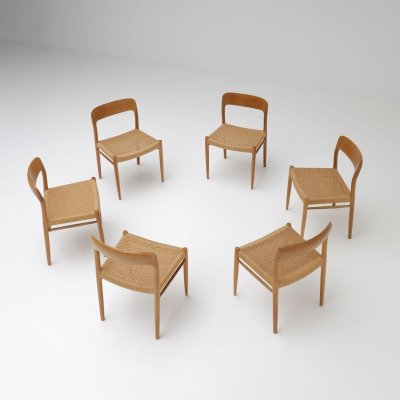Set of 6 dining chairs by Niels O. Møller for JL Møllers Møbelfabrik, 1970s