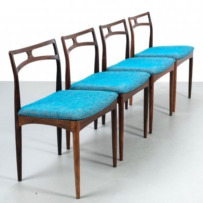 Set of 4 rosewood chairs model 94 by Johannes Andersen