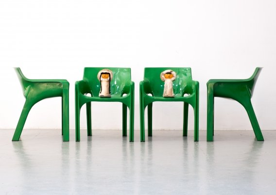 Set of 4 Gaudi dining chairs by Vico Magistretti for Artemide, 1970s
