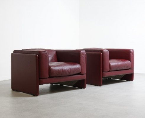 Peachy Le Chapanelle Sofa In Oxblood Red Leather By Tito Agnoli Cjindustries Chair Design For Home Cjindustriesco