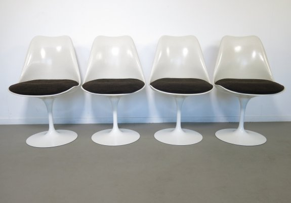 Set of 4 Tulip dining chairs by Eero Saarinen for Knoll, 1970s