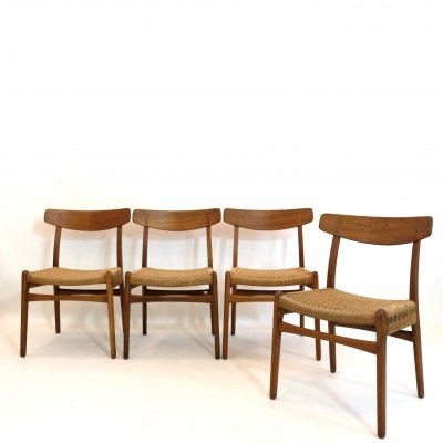 Set of four CH23 chairs by Hans Wegner for Carl Hanson & Son, 1950's