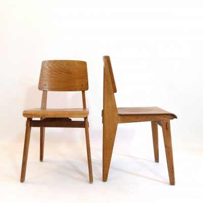 2 x Metropole chair 305 by Jean Prouvé, 1941