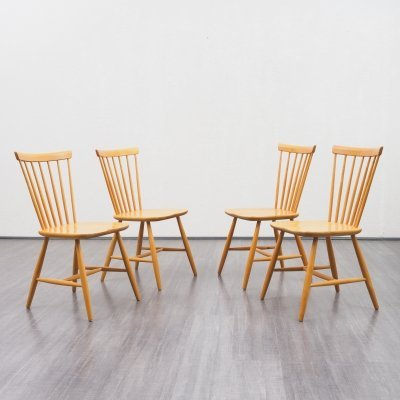 Set of four midcentury dining chairs by Hagafors Sweden