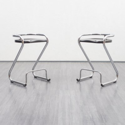 Set of two vintage bar stools by Borge Lindau & Bo Lindekrantz for Lammhults Sweden
