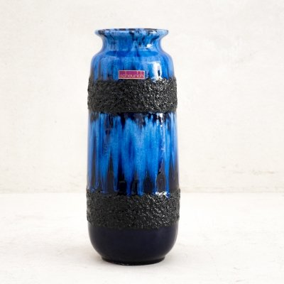 West German fat lava vase by Scheurich, 1970s