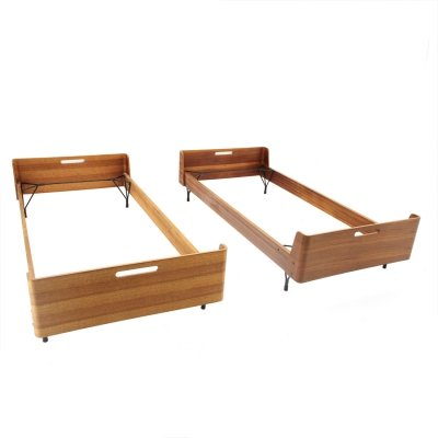 Pair of midcentury beds by Gastone Rinaldi for Rima, 1950s