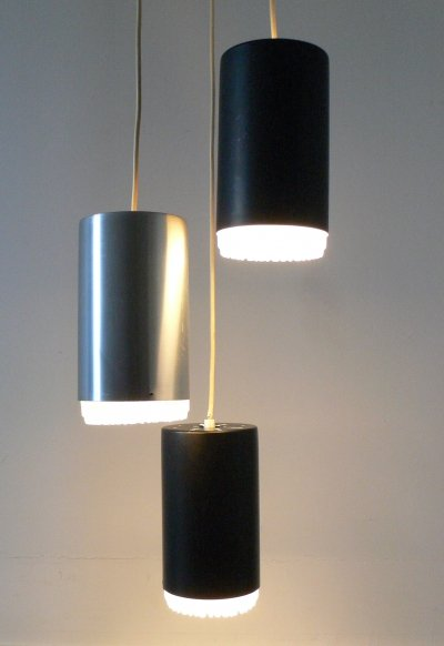 3 Cylinder Pendant Lamp by Raak Amsterdam, 1970s