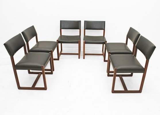 Set of 6 design chairs, 1960s