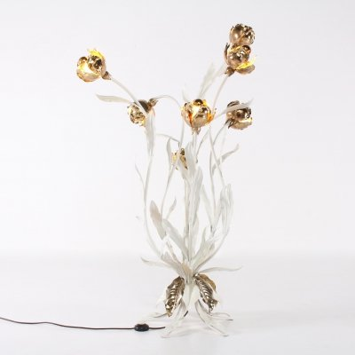 Gilt flower floor lamp by Hans Kögl