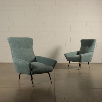 Pair of 1960s Vintage Armchairs