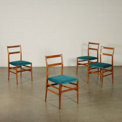 Four Leggera Chairs by Gio Ponti for Cassina