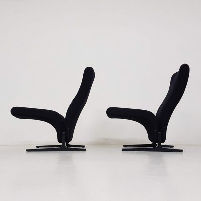 Set of 2 Pierre Paulin for Artifort 'Concorde' F780 lounge chairs