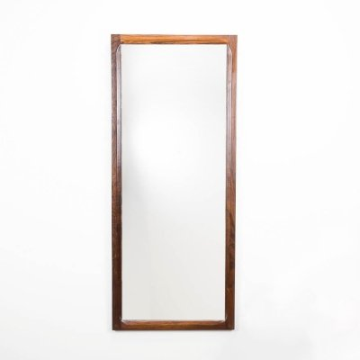 Large rosewood Model 165 mirror by Kai Kristiansen for Aksel Kjersgaard, 1960s