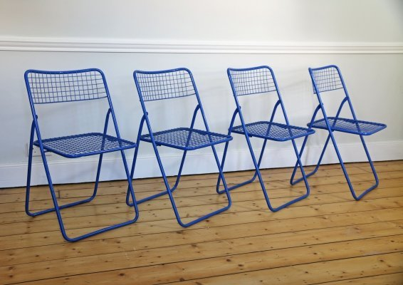 Set of 4 'Ted Net' Chairs by Niels Gammelgaard for IKEA, 1979