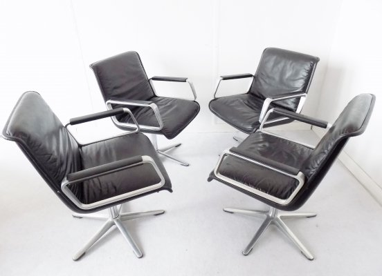 Set of 4 Delta 2000 chairs by Delta Design for Wilkhahn, 1960s